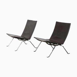 PK22 Lounge Chairs by Poul Kjaerholm for Fritz Hansen, Denmark, 1960s, Set of 2