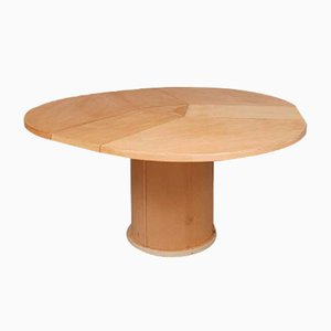Mid-Century Danish Circular Pedestal Dining Table from Skovby