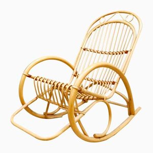 Bamboo Rocking Chair from Rohe Noordwolde, 1960s