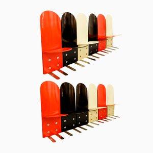 Italienische Pellicano Stühle von Luigi Saccardo für Arrmet, 1970er, 12er Set