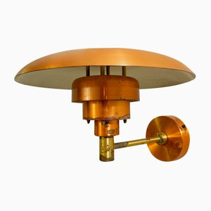 Copper Wall Light PH 4.5/3 by Poul Henningsen for Louis Poulsen, 1960s
