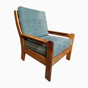 Vintage Danish Rosewood and Chrome Armchair