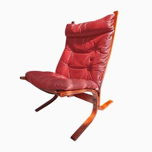 Danish Brown Leather Model R2 Armchair by Ingmar Relling for Westnofa, 1970s
