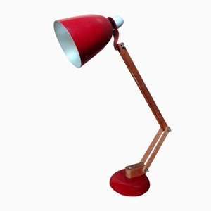 Vintage Wooden Anglepoise Light, 1950s