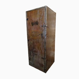 Vintage Industrial Metal Cupboard