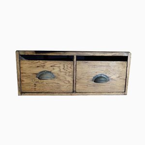 Vintage English Air Ministry Oak Drawer, 1943