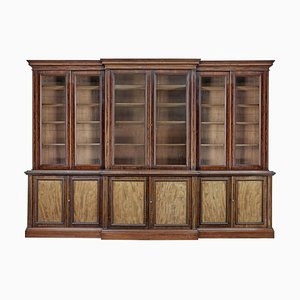 Large 19th Century Mahogany Breakfront Bookcase