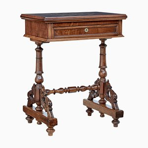 19th Century Carved Walnut Game Table