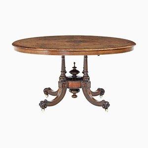 High Victorian Oval Inlaid Walnut Breakfast Table