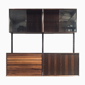 Mid-Century Danish Rosewood Wall Unit by Poul Cadovius for Cado, 1960s, Set of 4