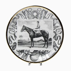 Large Mid-Century Italian Grandi Campioni Plates by Atelier Fornasetti for Fornasetti, Set of 6