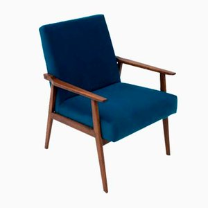 Mid-Century Blue Model 300-190 Armchair by H. Lis for Radomskie Zakłady Mebli, 1960s