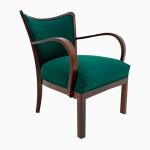 Art Deco Armchair, 1940s