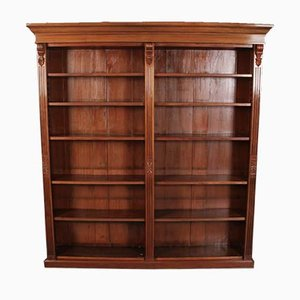 Large Victorian Walnut Open Double Bookcase from S&h Jewell