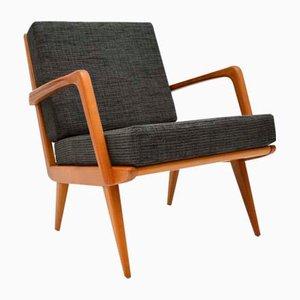Vintage Danish Cherrywood Armchair, 1960s