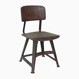 Industrial Side Chairs from Rowac, 1920s, Set of 2