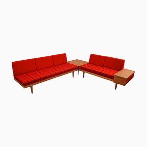 Mid-Century Sofas aus Eiche von Ingmar Relling für Ekornes, 3er Set