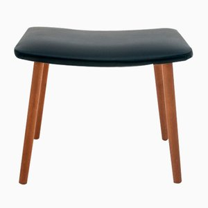 Scandinavian Modern Danish Faux Leather Stool, 1960s