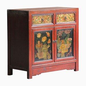 Vintage Mongolian Style Medium Sized Cabinet