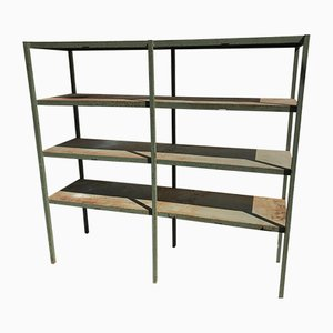 Large Industrial Style Metal Workshop Shelf, 1950s