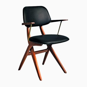 Scissor Dining Chair by Louis van Teeffelen for WéBé, 1960s