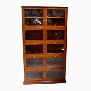 Vintage Mahogany Barristers Bookcase, 1940s