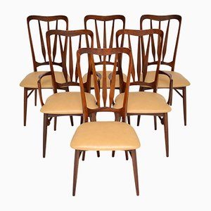 Danish Rosewood and Leather Dining Chairs by Nils Kofoed, 1960s, Set of 6