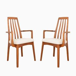 Chaises d'Appoint Mid-Century en Teck par Benny Linden, 1970s, Set de 2