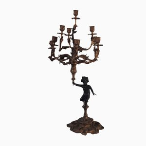 Mid-Century Kerzenhalter aus Bronze
