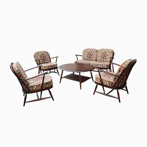 Mid-Century Living Room Set by Lucian Ercolani for Ercol, 1960s, Set of 5