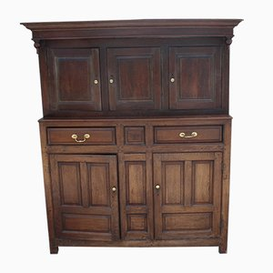 Large Oak Country Cupboard, 1880s