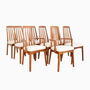 Chaises de Salon Mid-Century en Teck par Benny Linden, 1970s, Set de 8
