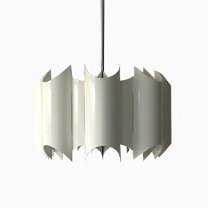 White Metal Pendant Lamp, 1970s
