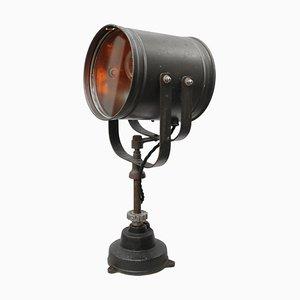 Industrielle Graue Vintage Metall Schiffs Tischlampe