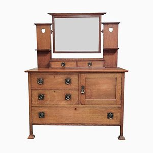 Antique Arts And Crafts Dressing Table