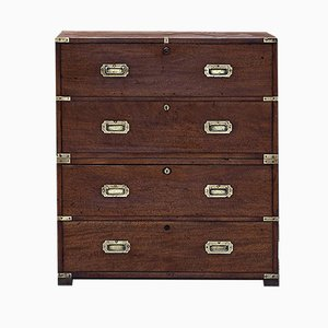 Antique Victorian Mahogany Campaign Chest