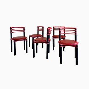 Chaises de Salon par Kurt Thut pour Dietiker, 1980s, Set de 5