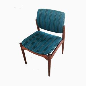 Chaises de Salon Captain en Teck par Erik Buch pour Ørum Møbelfabrik, 1960s, Set de 4