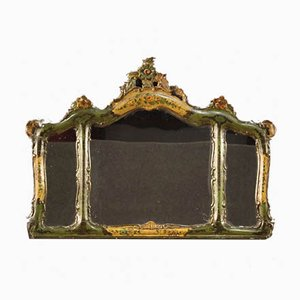 Italian Lacquered and Painted Mirror, 1950s