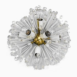 Brass Crystal Flush Mount or Sconce by Emil Stejnar for Rupert Nikoll, 1950s