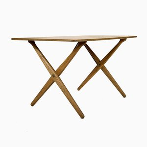 Danish Oak Model AT308 Side Table by Hans Wegner for Andreas Tuck, 1950s