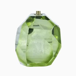 Italian Green Prism Murano Glass Table Lamp, 2008