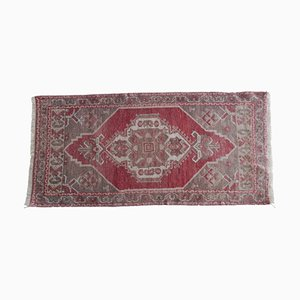 Small Hand-Knotted Distressed Oushak Rug, 1970s