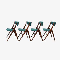 Chaises de Salon Minimalistes en Teck par Louis van Teeffelen pour Webé, Set de 4
