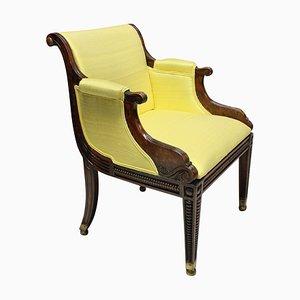 Antiker Regency English Stuhl aus Buchenholz im Kunstseifenrahmen