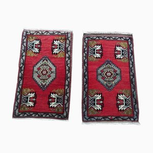 Vintage Turkish Oushak Rugs, 1970s, Set of 2