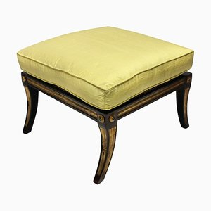 Mid-Century Rosewood and Parcel Gilt Stool