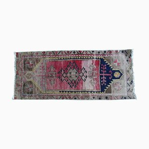 Small Turkish Hand Knotted Door Mat or Bath Mat, 1970s