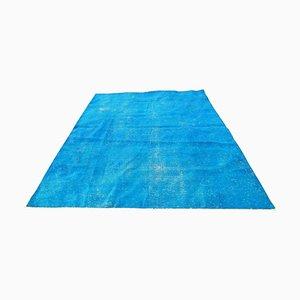 Blauer Überfärbter Vintage Teppich, 1970er