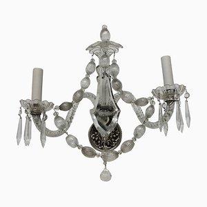 Antike französische Wandlampen aus Glas, 6er Set